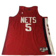 Nike Jason Kidd New Jersey Nets Throwback 1980 Jersey 3XL Sewn Lettering Red #5 - $89.09