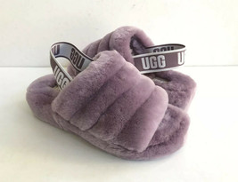 UGG FLUFF YEAH SLIDE SHADOW MOCASSIN SLIP ON SANDAL US 7 / EU 38 / UK 5 - $111.27