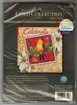 Dimensions Gold Cross Stitch Petites Joy Xmas Ornament Bird Postage Stam... - $11.99