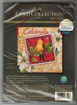 Dimensions Gold Cross Stitch Petites Joy Xmas Ornament Bird Postage Stamp Kit - $11.99