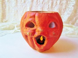 Antique Halloween Pumpkin Jack O Lantern Vintage Pulp Flicker Light Pape... - $125.00