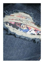 Flip The Script Japan Eroticism Naked Ladies Playing Cards Indigo Denim Jeans NW image 5