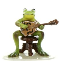 Hagen Renaker Miniature Frog Froggy Mountain Breakdown Mandolin Ceramic Figurine image 3