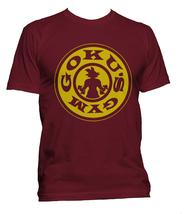 Goku's Gym #1 Men Tee S-3XL Maroon T-shirt - $18.00+