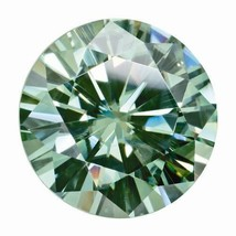 0.23 Ct Round Cut Moissanite Fancy Green 4mm Diameter Loose Stone C&C - $79.18