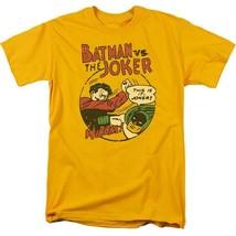 Bat Man Joker T-shirt retro 70s 80s comic book cartoon DC superhero tee DCO754 image 2
