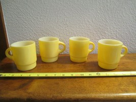 Fire King Anchor Hocking 4 Stackable Mugs Cups Glasses Lot 1 - $14.99