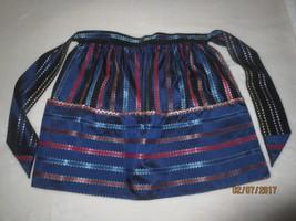 "Vintage UNUSED Handmade NAVY SATINY Taffeta(?) ""RIBBON & RIC RAC"" Half A... - $17.82"