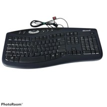 Microsoft Comfort Curve Keyboard 2000 v1.0 1047 Ergonomic KU-0459 X802645-001 - $54.56