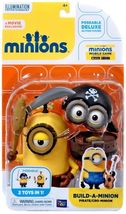 "Disney Despicable Me Deluxe Minion Build a Minion Pirate / Cro Minion 4""... - $34.00"