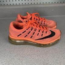 Nike Air Max 2016 Neon Orange 806772 800 Women`s Sz 6 Running Shoes Snea... - $39.59