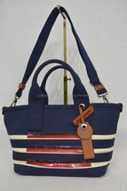 NWT! Marc By Marc Jacobs M0007856 Small Stripes Tote in New Prussian Blu... - $199.00