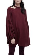 NWT Free people Drift Away Cold Shoulder Tunic Retail $98 - $73.99