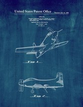 Airplane Patent Print - Midnight Blue - $7.95+