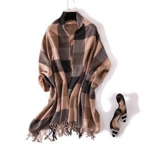 Women Warm Scarf Cashmere Winter Shawl Wrap Soft Tassels Pashmina 2018  - $17.40