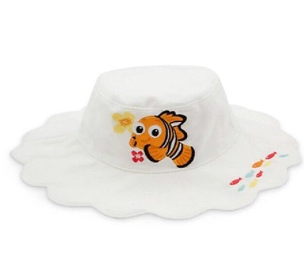 Primary image for New Disney Store Finding Nemo Sun Bucket Swim Hat Size 6 - 12 Months  Baby Cap