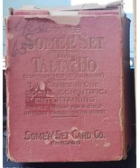 Double Some'R' Set and Tally Ho 1913 Antique Card Game, complete 50 card... - $13.67