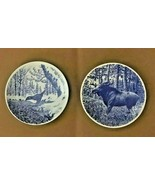SCANDINAVIAN (NORWEGIAN) MODERN- PORGSRUND PORCELAIN FAUNA PLAQUES / PLA... - $34.95