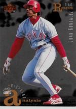 1995 Upper Deck Baseball, #104, Juan Gonzalez, Texas Rangers, Midpoint Analysis - $0.99