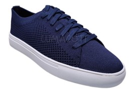 Kenneth Cole Reaction On The Road Mens Navy Knitted Lace Up Fashion Snea... - $77.99