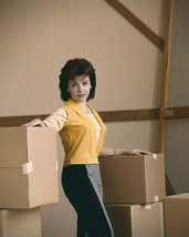 Annette Funicello 1960's posing in warehouse with boxes 16x20 Canvas - $69.99