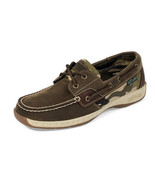 EASTLAND SOLSTICE SLIP-ON WOMEN'S OLIVE/CAMO BOAT SHOES SZ 6,  #3701-29 - £34.63 GBP