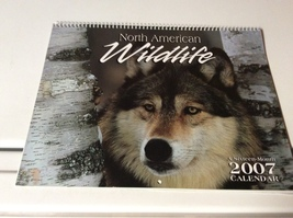 2007 North America Wildlife Calendar with Frameable Pictures - $7.99