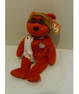 "Ty Beanie Babies ""BEARON"" (Red) Aviation Bear 100 Years of Flight Wright... - $9.98"