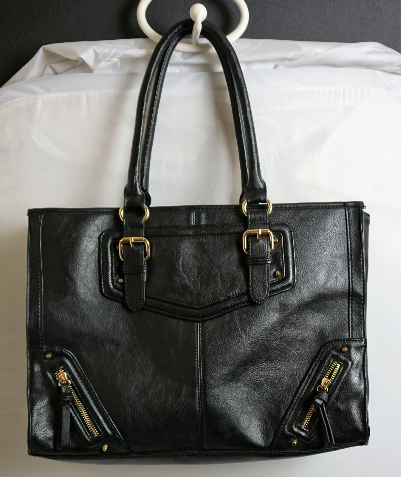 cd23fcacf6b1b Aldo Beautiful Black Large Faux Leather Purse Tote Shopper -  19.61