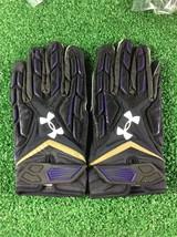 Team Issued Baltimore Ravens Under Armour Fierce 3xl Football Gloves - $29.99