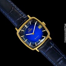 1974 OMEGA GENEVE Vintage Mens Midsize 18K Gold Plated Watch, Mint with ... - $1,171.10