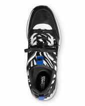 Michael Kors MK Women's Georgie Trainer Mesh Sneakers Shoes Zebra Print  - 7M image 3