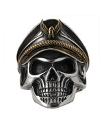 925 Silver World War II Soldier  Mens Rings Punk Rock Vintage Adjustable - $40.99