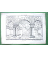 ARCHITECTURE PRINT : Italy Interior of S. Martino ai Monti at Rome - $11.14