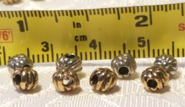 5pcs. Flowers Pewter Metal Bead 5pc Fine Cast Pewter Made in USA image 2