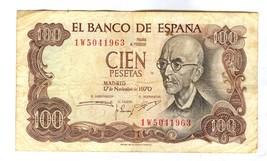 1970 SPAIN CIEN PESETA (BIDDING 1 )BANK NOTE - $2.97