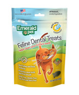 Emerald Pet Turkey/duck Emerald Pet Feline Dental Grain Free Treats 3 Ou... - $16.65