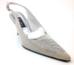 "Stuart Weitzman Women's ""Dazzling"" Heels Color Oyster Sparkle, Size US 6 C - $59.39"