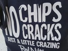 """Navy RNV Shopping Tote Bag """"No Chips/Cracks"""" image 2"""