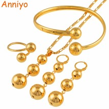 African Beads Jewelry sets Necklace Earrings Bangle Ring for Women Trend... - $27.47