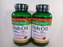 Nature's Bounty Fish Oil 2 PACK 180 Rapid Release Softgels Each (360) 23-N  - $19.80