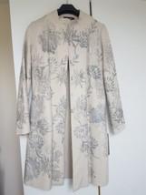 Antik Batik cream wool coat with silver hand paint, Size M - $263.15