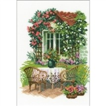 RIOLIS Counted Cross Stitch Kit, Morning In The Country, Kit #R1003 - $24.96