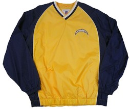 Large NFL Chargers Jacket Men's Football Lightweight Pullover Old Logo NEW