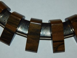 Stardust Bakelite Necklace on Stretch Cord With Metal Chain and Spacer F... - $69.99