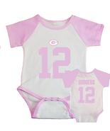 Aaron Rodgers Jersey Onesie Short Sleeve Bodysuit Pink - $17.00