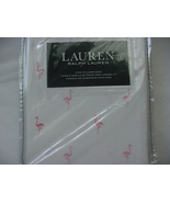 Ralph Lauren Pink Flamingos on White Pillowcases King - $28.88
