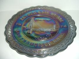 Westmoreland San Francisco Golden Gate Bridge Carnival Glass Plate 1974 - $49.99