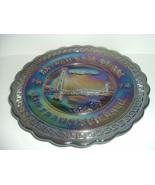 Westmoreland San Francisco Golden Gate Bridge Carnival Glass Plate 1974 - $38.99