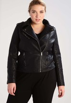 New Women's  Genuine Soft Lambskin Leather Fit Motorcycle  Biker Jacket -33